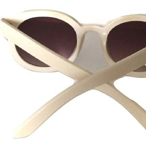 Urban Outfitters Accessories - • {UO} Emma Cream Round Sunglasses